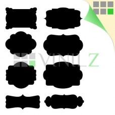 Этикетки для письма мелом (грифельные наклейки, фигурные стикеры, 8 шт)