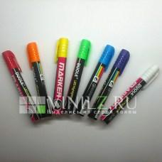 Меловой маркер DUOLE (жидкий мел) для письма на меловых поверхностях  (7 цветов)