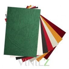 Дизайнерская бумага А4 фактура кожа, разных цветов, 230 г/м2