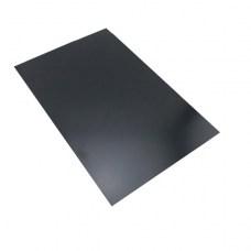 Пластик черный, матовый, А4, 0.4 мм, листовой, непрозрачный, ПП, с поверхностью для письма мелом