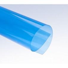 Цветной прозрачный пластик листовой A3, 0.18/0.2мм, ПВХ, синий