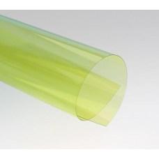 Цветной прозрачный пластик листовой A3, 0.18/0.2мм, ПВХ, желтый