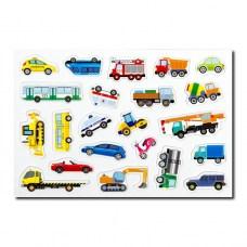 Магнитный автопарк, магнитные машины, 22 штуки