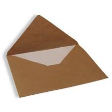 Крафт конверт C6, 114x162 мм (коричневый), треугольный клапан