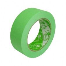 Скотч бумажный декоративный крафт 45 м, клейкая лента бумажная зеленая